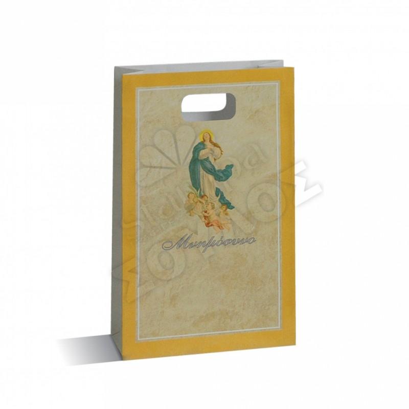 Τσάντα Μνημοσύνου Μικρή Χάρτινη με Χούφτα: Άγγελος Μικρή Τσάντες Μνημοσύνων Μικρές με Χούφτα