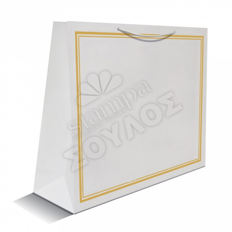 Τσάντα Μνημοσύνου: Χρυσή Πολύ Μεγάλη Πλαστικοποιημένη Τσάντες Μνημοσύνων Πολύ Μεγάλες Πλαστικοποιημένες με Κορδόνι