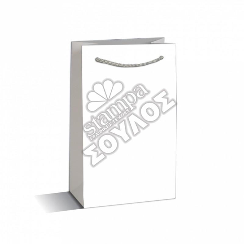 Τσάντα Μνημοσύνου Μικρή Πλαστικοποιημένη: Λευκή Μικρή Κορδόνι Τσάντες Μνημοσύνων Μικρές Πλαστικοποιημένες με Κορδόνι