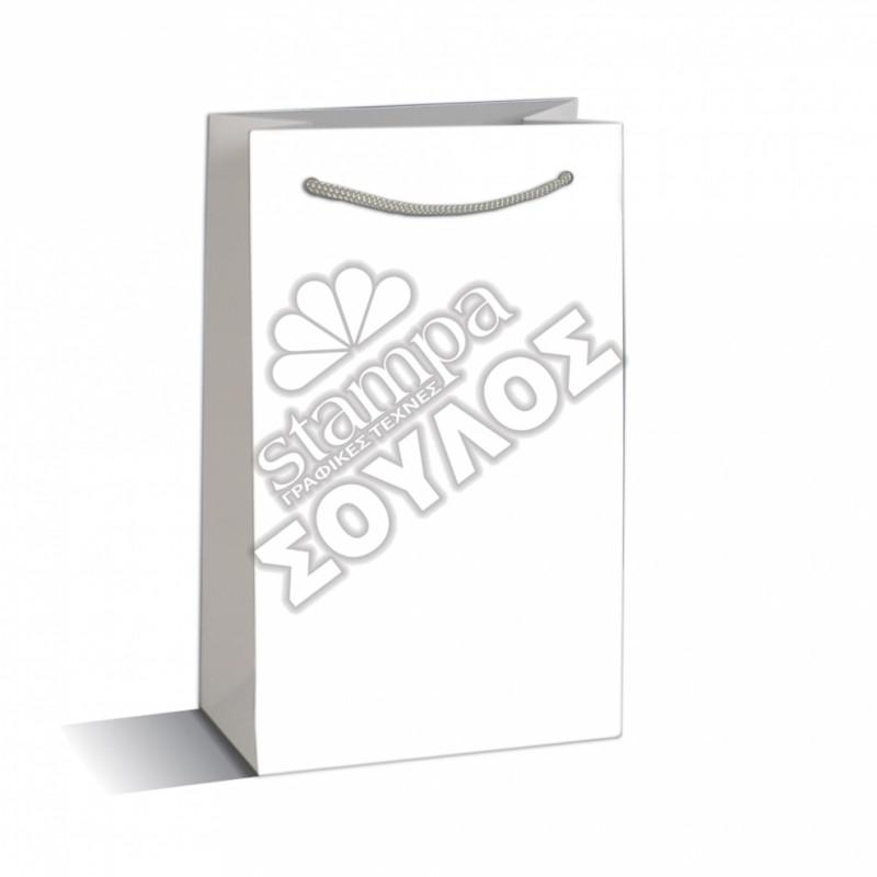 Τσάντα Μνημοσύνου Μεγάλη Πλαστικοποιημένη: Λευκή Μεγάλη Κορδόνι Τσάντες Μνημοσύνων Μεγάλες Πλαστικοποιημένες με Κορδόνι